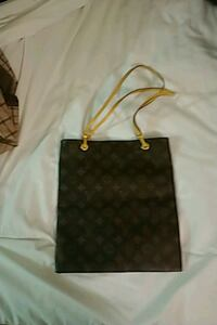 women's black and brown leather tote bag Edmonton, T6H 1L2
