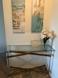 Glass and Gold. Elegant and Classy. Entry way console!! **BRAND NEW** ONLY $200 Noblesville, 46062