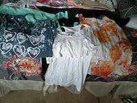 Girls tops and bottoms sizes s I have legins shirts and shorts all in