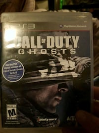 Call of Duty Ghosts PS3 game case Dartmouth, B3A 4C5