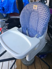 baby's white and blue high chair Surrey, V4N 6X5