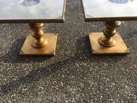 Two gold end tables Rocklin, 95677