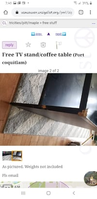 Free tv stand/coffee table