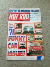 Hot rod magazine funny car steel metal sign  Portland, 97217