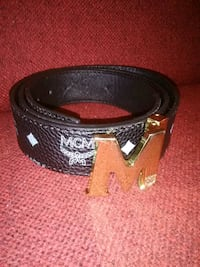 black and white leather belt Forest, 39074