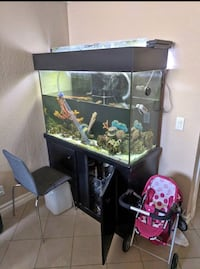 110g glass tank w/overflow, stand and sump Hacienda Heights, 91745