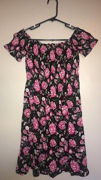 women's black and pink floral dress Fresno, 93726