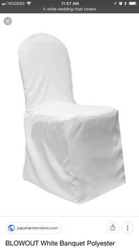 100 white chair covers like in picture