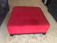 Red fabric ottoman coffee table Norfolk