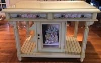 For Sale: Wooden Hutch with Glass Top Falls Church