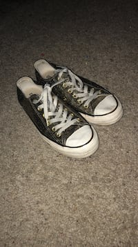 Gold glitter all star converse