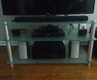 3 tiers glass tv stand ONLY  53 mi