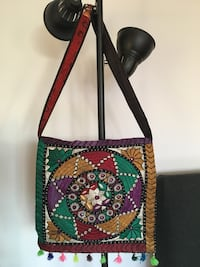 Purple multicolored tribal print crossbody bag Mont-Royal, H3R 2S4