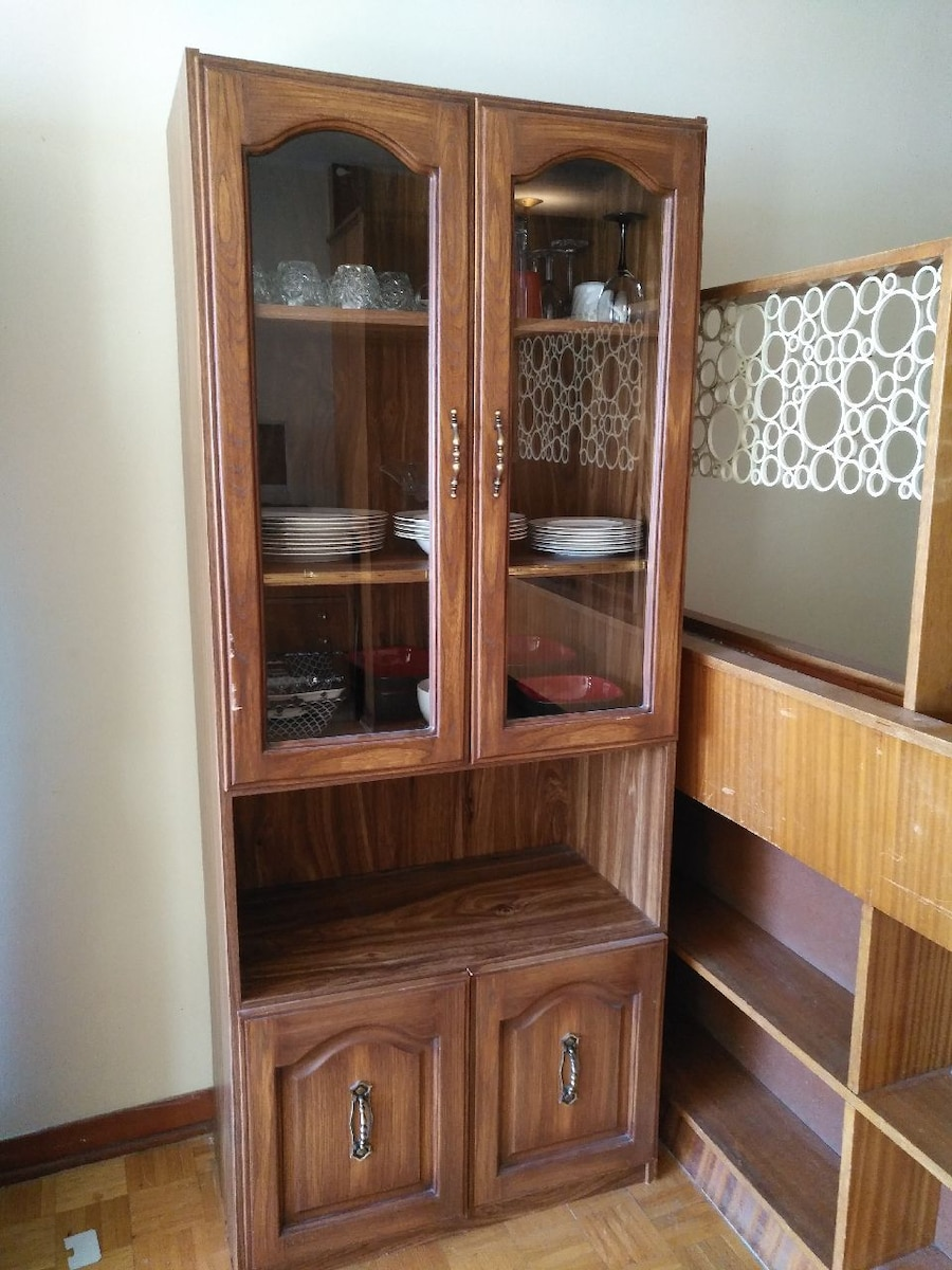 used brown wooden display cabinet for sale letgo rh gb letgo com