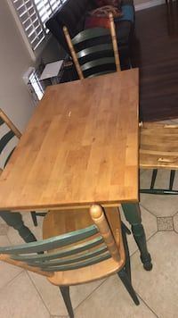 rectangular brown wooden table with chairs Las Vegas, 89123
