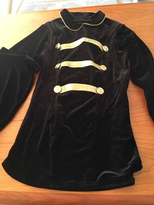 Child's Black and gold military costume
