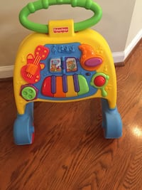 baby's yellow and blue Fisher Price learning walker Ashburn, 20147