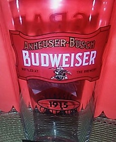 Budweiser retro 1950 pint glass