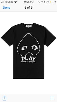 black and white Comme des Garcons Play crew-neck t-shirt screenshot Kitchener, N2A 4C4