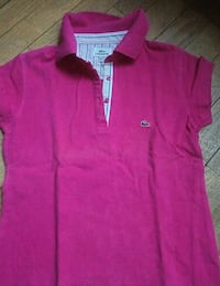 Polo Lacoste rose XL manches courtes  6175 km