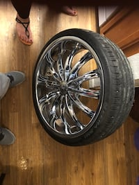 "20"" rims and tires Tulsa, 74108"