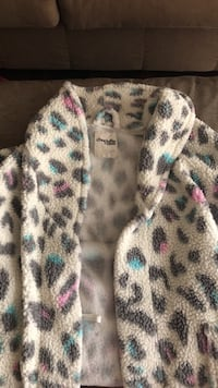 White and black leopard print zip-up jacket Charlotte, 28212