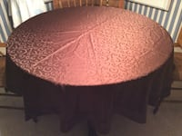 """Chocolate brown round tablecloth...68"""""""