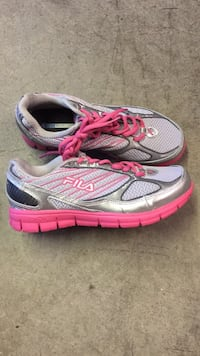 Pair of gray-and-pink FILS running shoes Johnson City, 37615