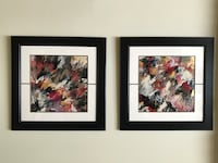 Two LARGE original abstract art painting. Framed beautifully Delta, V4E 2Y2