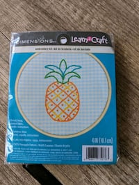 Dimensions learn a craft embroidery kit pineapple Mississauga, L5B 4N3