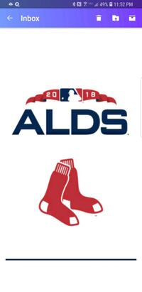 Boston Red Sox ALDS Tickets Home Game 2 Warwick, 02886