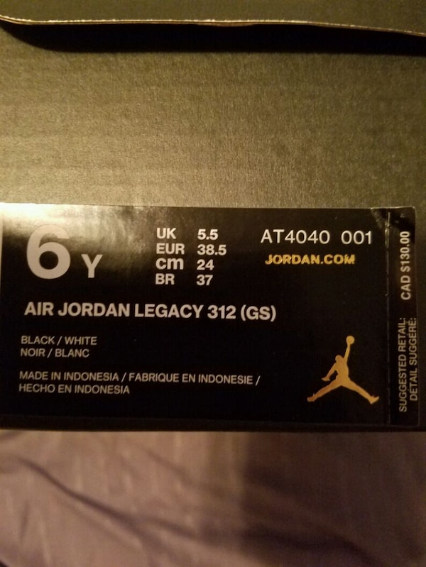 a3cf0682977 Used pair of black-and-white Nike basketball shoes for sale in Edmonton -  letgo