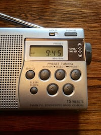 Sony Portable Radio with Presets, Time London, N6B 2B2
