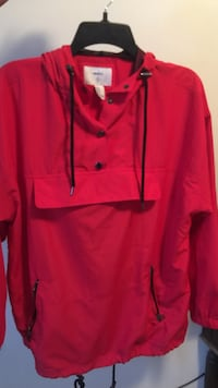 red pullover hoodie