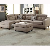 Blow out Special! Brand New 2pc Sectional with Ottoman $599 Only, No credit Needed Finance Sacramento, 95835