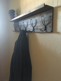 Custom Made Reclaimed Wood Coat Rack -Farmhouse, Cottage , Rustic, Shabby Chic, Industrial Style Puyallup, 98372