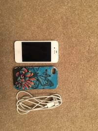 white iPhone 4 and blue case 36 mi
