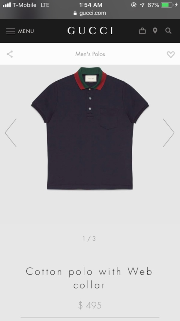 65641ad039b Used Mens gucci polo for sale in New York - letgo