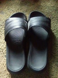 d6ff384a5ce Used pair of black Nike slide sandals for sale in Greenville - letgo