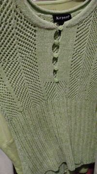 green Airport knitted sweater