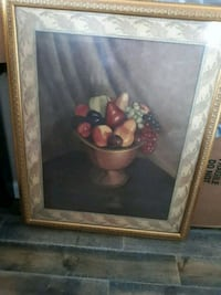 brown wooden framed painting of red and white flowers Brooklyn, 11222