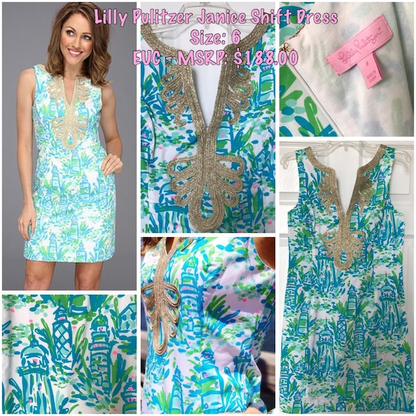 2b8d2dcc17a19b Used Lilly Pulitzer- Janice Shift Dress in Lighthouse Print, Size 6 for sale  in Cold Spring - letgo