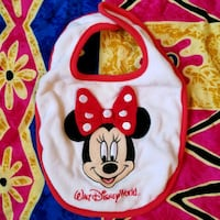 Disney World Minnie Mouse Baby Girl Bib La Feria, 78559