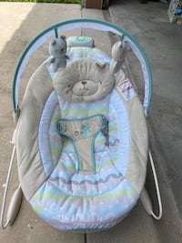 Baby seat with vibration and music