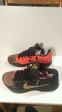 pair of black-and-red Nike basketball shoes Brampton, L6Y 4R5