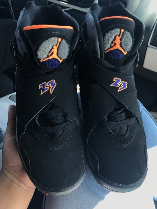 newest 86925 a244b Used pair of black-gray-orange-and-blue air jordan 8 s for sale in San Jose  - letgo