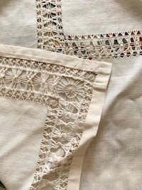 Hand made cotton table cloth set.