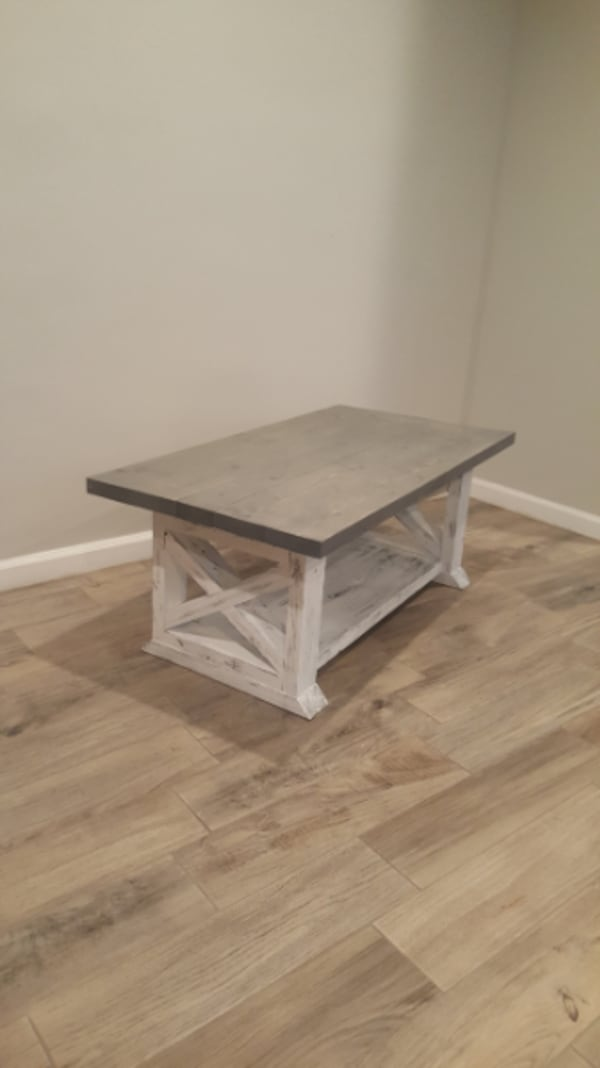 Farmhouse Custom Coffee Table Country Style Staine 2