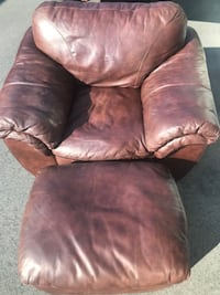 Leater Couch, Chair, Ottoman Fuquay Varina