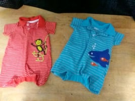Set of 2 Baby Rompers 3-6 Months